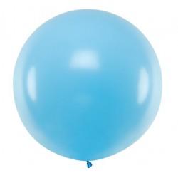 Ronde ballon met een doorsnede van 1 meter pastel hemels blauw