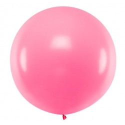 Ronde ballon met een doorsnede van 1 meter pastel roze