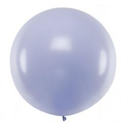 Ronde ballon met een doorsnede van 1 meter pastel licht lila