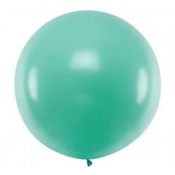 Ronde ballon met een doorsnede van 1 meter pastel forest green