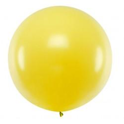 Ronde ballon met een doorsnede van 1 meter pastel geel