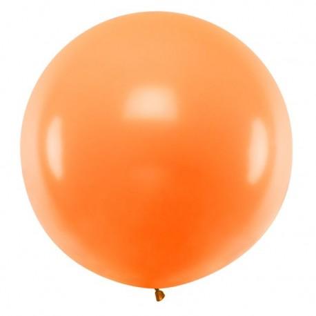 Ronde ballon met een doorsnede van 1 meter pastel oranje