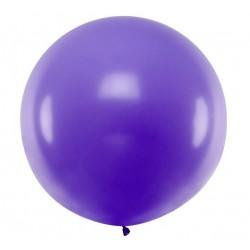 Ronde ballon met een doorsnede van 1 meter pastel lavendel