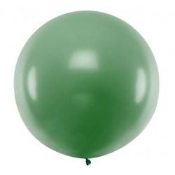 Ronde ballon met een doorsnede van 1 meter pastel donker groen