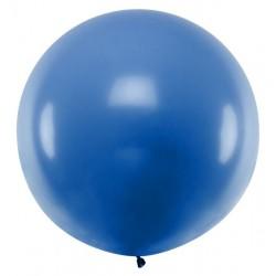 Ronde ballon met een doorsnede van 1 meter pastel blauw