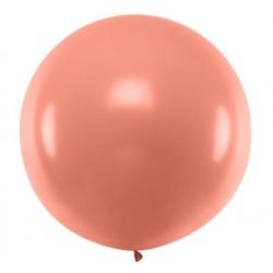 Ronde ballon met een doorsnede van 1 meter metallic rosé goud