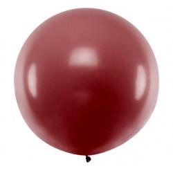 Ronde ballon met een doorsnede van 1 meter pastel bordeaux rood