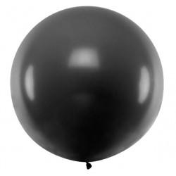 Ronde ballon met een doorsnede van 1 meter pastel zwart