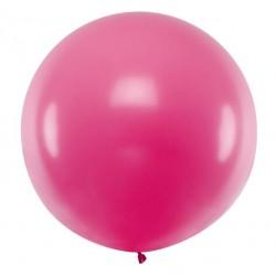 Ronde ballon met een doorsnede van 1 meter pastel fuchsia