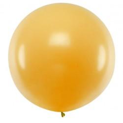 Ronde ballon met een doorsnede van 1 meter metallic gold