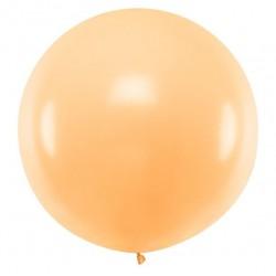 Ronde ballon met een doorsnede van 1 meter pastel licht zalm