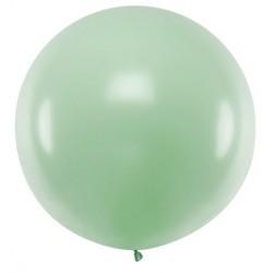 Ronde ballon met een doorsnede van 1 meter pastel pistachio
