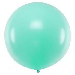 Ronde ballon met een doorsnede van 1 meter pastel licht mint