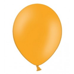 Ballonnen klein, 12 cm extra sterk voor helium of lucht per 10, 20, 50 of 100 stuks pastel mandarin orange