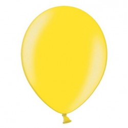 Ballonnen 23 cm citroen geel metallic extra sterk voor helium of lucht per 10, 20, 50 of 100 stuks