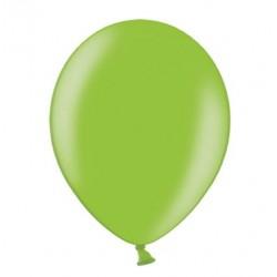 Ballonnen 23 cm helder groen metallic extra sterk voor helium of lucht per 10, 20, 50 of 100 stuks