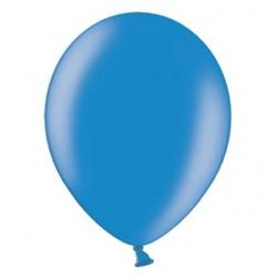Ballonnen 23 cm korenbloem blauw metallic extra sterk voor helium of lucht per 10, 20, 50 of 100 stuks