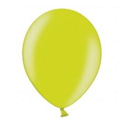 Ballonnen 23 cm lime groen metallic extra sterk voor helium of lucht per 10, 20, 50 of 100 stuks