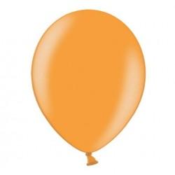 Ballonnen 23 cm mandarin orange metallic extra sterk voor helium of lucht per 10, 20, 50 of 100 stuks
