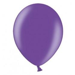 Ballonnen 23 cm paars metallic extra sterk voor helium of lucht per 10, 20, 50 of 100 stuks