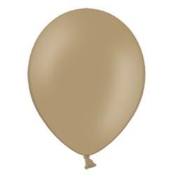 Ballonnen 23 cm pastel capuccino extra sterk voor helium of lucht per 10, 20, 50 of 100 stuks