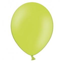 Ballonnen 23 cm pastel lime green extra sterk voor helium of lucht per 10, 20, 50 of 100 stuks