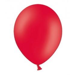 Ballonnen 23 cm pastel poppy red extra sterk voor helium of lucht per 10, 20, 50 of 100 stuks