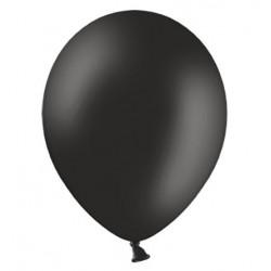 Ballonnen 23 cm pastel zwart extra sterk voor helium of lucht per 10, 20, 50 of 100 stuks