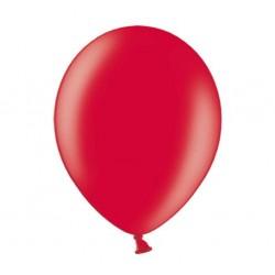 Ballonnen 23 cm poppy red metallic extra sterk voor helium of lucht per 10, 20, 50 of 100 stuks