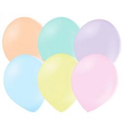 50 ballonnen pastel mix 23 cm extra sterk voor helium of lucht