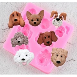 Kleine siliconen template met honden vormen