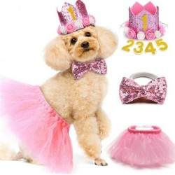 Driedelige honden verjaardags set roze