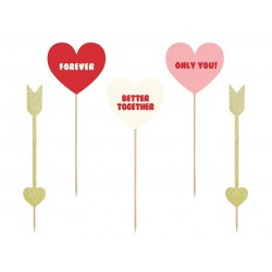 Cupcake toppers Hearts and arrows