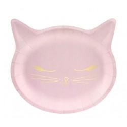 Bordjes Cat roze met goud