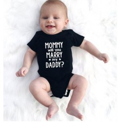 Baby rompertje met de tekst Mommy Will You Marry my Daddy