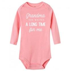 Baby rompertje met de tekst Grandma has waited a long Time for Me