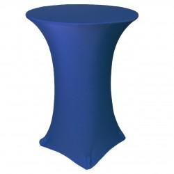 Stretch hoes voor sta tafels blauw