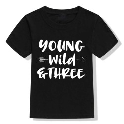 T-shirt Young Wild and Three