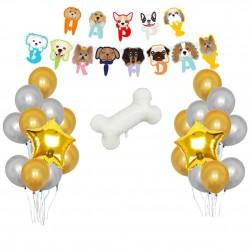 14-delige honden verjaardags decoratie set Happy Dog