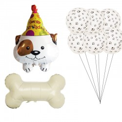 12-delige honden ballonnen party decoratie set