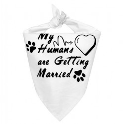 Honden bandana My Humans are getting Married Hearts