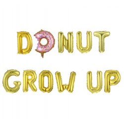 Folie ballonnen set 11-delig Donut Grow Up goud