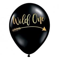 Ballonnen Wild One Tribal zwart met goudkleurige opdruk