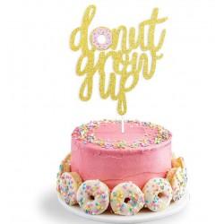 Taart topper Donut Grow Up