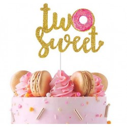 Donut taart topper Two Sweet