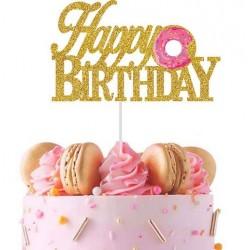Donut taart topper Happy Birthday