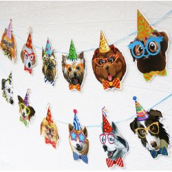 Banner XL Happy Birthday Dogs