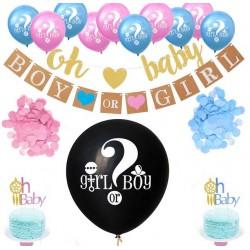15-delige gender reveal party en decoratie set Boy or Girl
