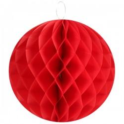 Pak met 2 honeycomb bollen S, M of L rood