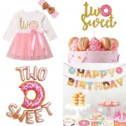 13-delige tweede verjaardags set Two Sweet Donut